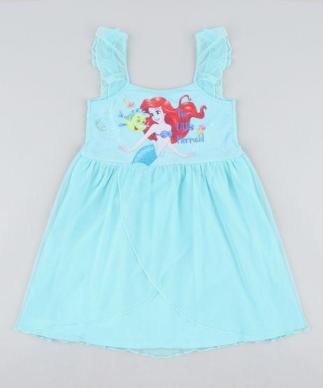 Camisola-Infantil-Pequena-Sereia-Ariel-com-Tule-Sem-Manga-Verde-Agua-9418637-Verde_Agua_1