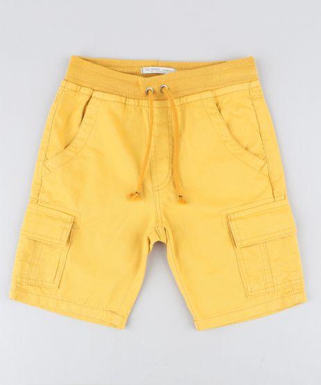 Bermuda-Color-Infantil-Cargo-com-Cordao-Amarela-9429365-Amarelo_1