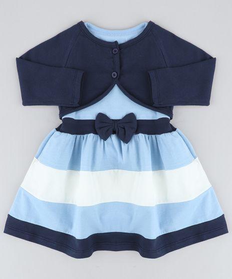 Conjunto-Infantil-de-Vestido-Azul-Claro---Bolero-Azul-Marinho-9428805-Azul_Marinho_1