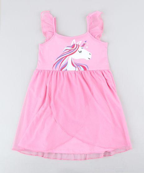 Camisola-Infantil-Unicornio-com-Tule-Sem-Manga-Rosa-9418553-Rosa_1