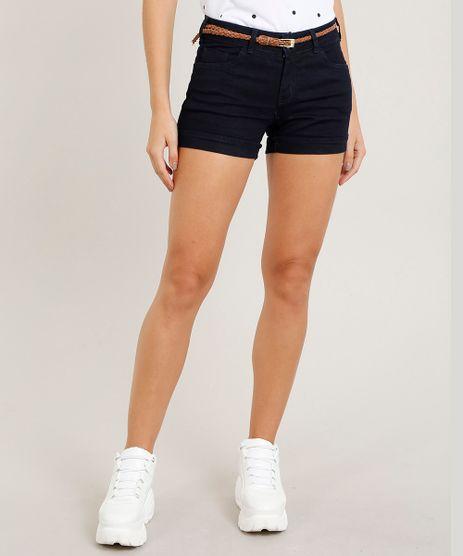 Short-Jeans-Feminino-Reto-com-Cinto--Azul-Escuro-8494496-Azul_Escuro_1