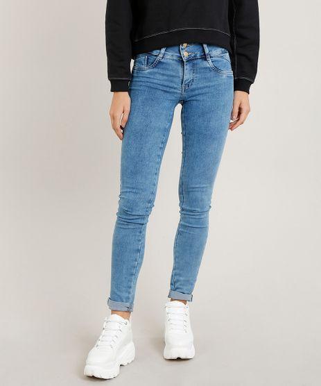 b2f587254 Calca-Jeans-Feminina-Sawary-Skinny-Azul-Claro-9376609-
