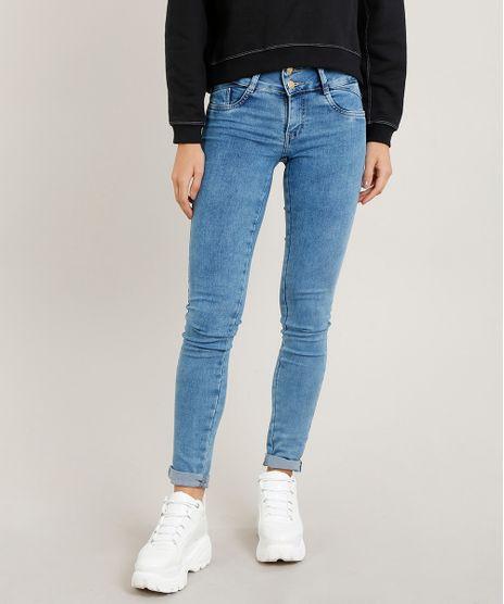 9e3d8e977 Calca-Jeans-Feminina-Sawary-Skinny-Azul-Claro-9376609-