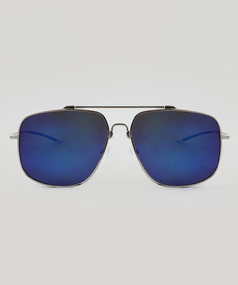 f7f2eb113c6 Oculos-de-Sol-Quadrado-Masculino-Oneself-Prateado-9510043-