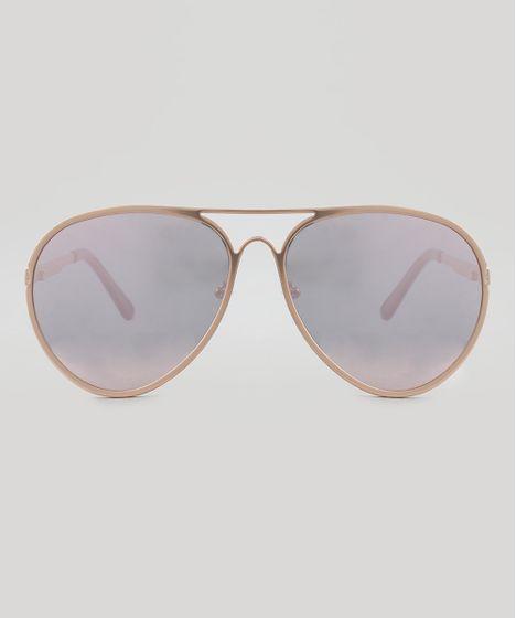 520e48e21459c Oculos-de-Sol-Aviador-Feminino-Oneself-Rose-9517335- ...
