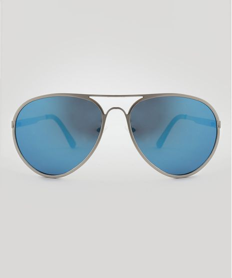 Oculos-de-Sol-Aviador-Unissex-Oneself-Prateado-9510050-Prateado_1