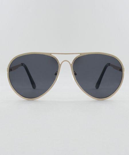 235e444b84dc6 Óculos de Sol Aviador Unissex Oneself Dourado - cea