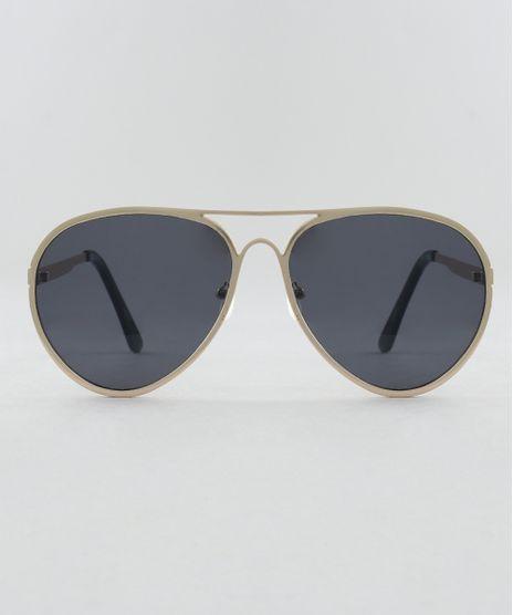 0a1e1caa67460 Oculos-de-Sol-Aviador-Unissex-Oneself-Dourado-9510047-