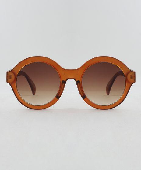 6251b54dfaf54 Oculos-de-Sol-Redondo-Feminino-Oneself-Marrom-9510018-
