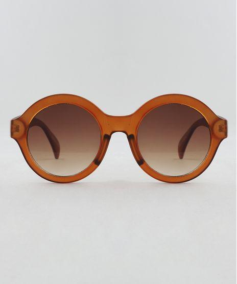 Oculos-de-Sol-Redondo-Feminino-Oneself-Marrom-9510018- 2f751180f5