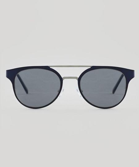 af8ed72c3 Óculos de Sol Redondo Feminino Oneself Azul - Único   Menor preço ...