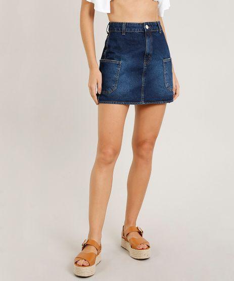 Saia-Jeans-Feminina-Cargo-Azul-Escuro-9458560-Azul_Escuro_1