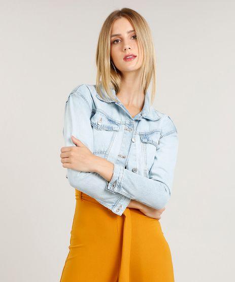 Jaqueta-Jeans-Feminina-Cropped-com-Bolsos-Azul-Claro-9458573-Azul_Claro_1