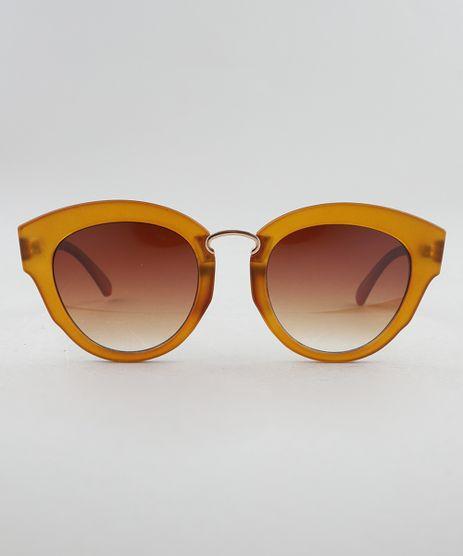 391d149113ea5 Oculos-de-Sol-Redondo-Feminino-Oneself-Marrom-9189387-