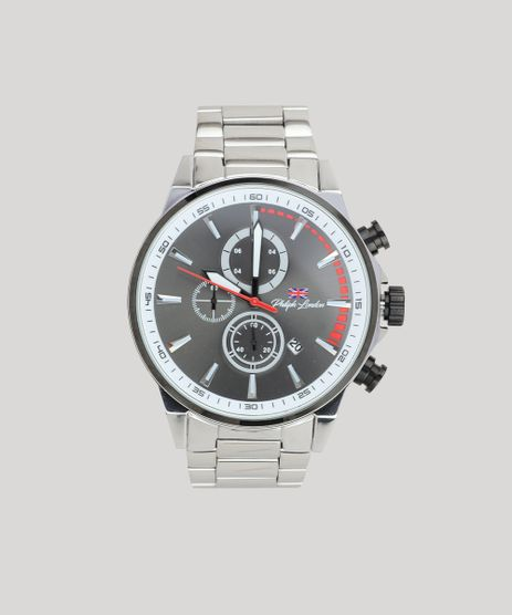 b5100eea258 Relogio-Cronografo-Philip-London-Masculino---PL80019633M-Prateado-