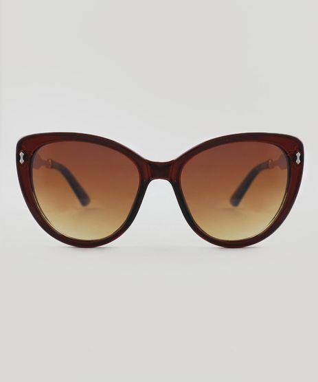Oculos-de-Sol-Redondo-Feminino-Oneself-Marrom-8908284-Marrom_1