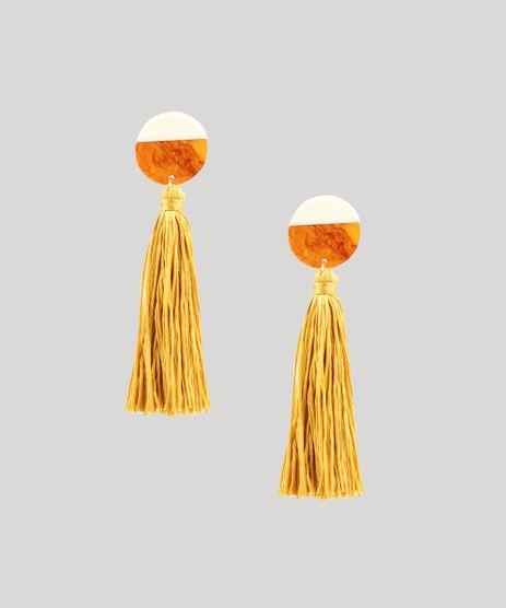Brinco-Feminino-com-Acrilico-e-Tassel-Amarelo-9413052-Amarelo_1
