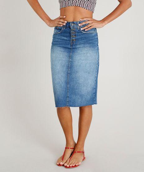Saia-Jeans-Feminina-Midi-Azul-Medio-9463460-Azul_Medio_1