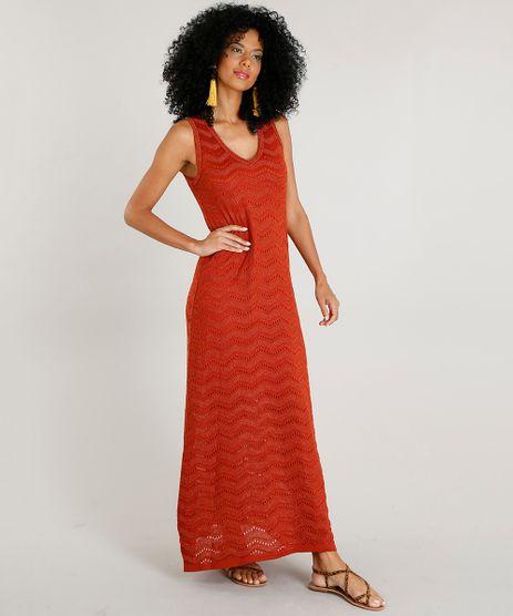 Vestido-Feminino-Longo-em-Trico-com-Lurex-Cobre-9441959-Cobre_1