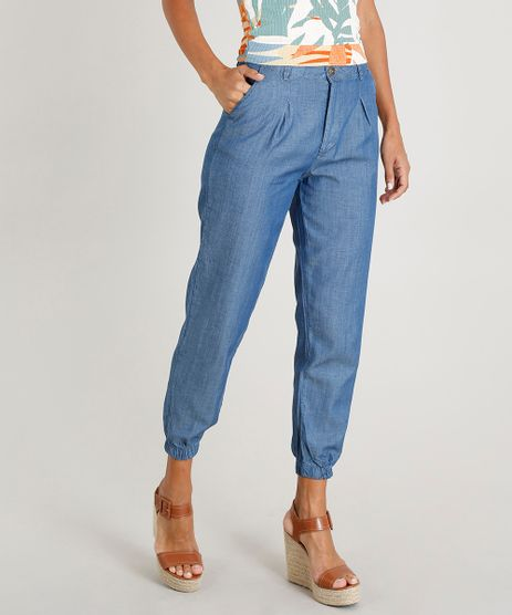 Calca-Jeans-Jogger-Feminina-Alfaiatada-Azul-Medio-9453721-Azul_Medio_1