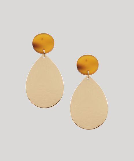 Brinco-Feminino-com-Acrilico-Dourado-9413049-Dourado_1