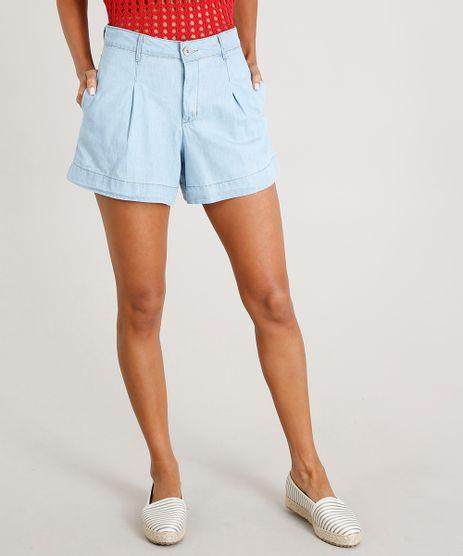 Short-Jeans-Feminino-Alfaiatado-Azul-Claro-9475946-Azul_Claro_1
