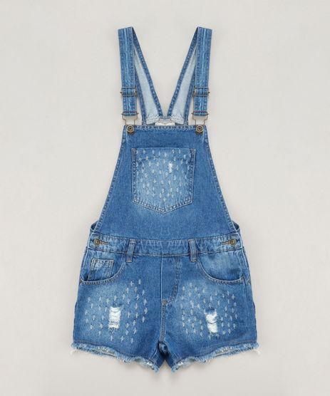 Jardineira-Jeans-Infantil-Destroyed-Azul-Medio-8736502-Azul_Medio_1