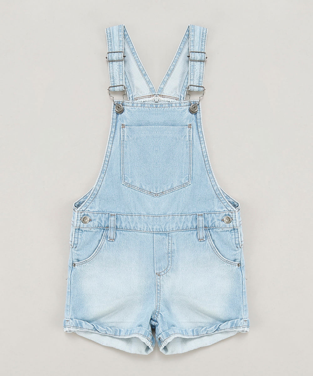 ebe754dd9 ... Jardineira-Jeans-Infantil-Azul-Claro-9218124-Azul Claro 1