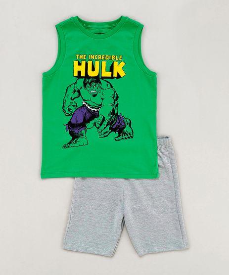 Conjunto-Infantil-Hulk-de-Regata-Verde-Gola-Careca---Bermuda-em-Moletom-Cinza-Mescla-9242838-Cinza_Mescla_1