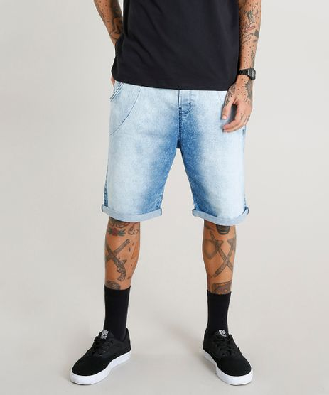 Bermuda-Jeans-Masculina-Jogger-com-Cordao-Azul-Claro-8766347-Azul_Claro_1