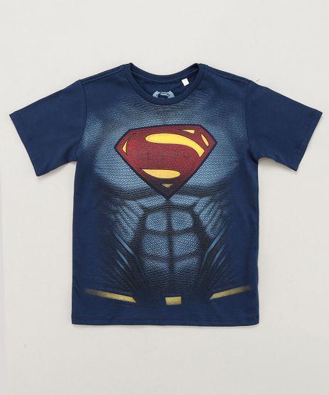 Camiseta-Infantil-Super-Homem-Manga-Curta-Gola-Careca-Azul-Marinho-9235151-Azul_Marinho_1