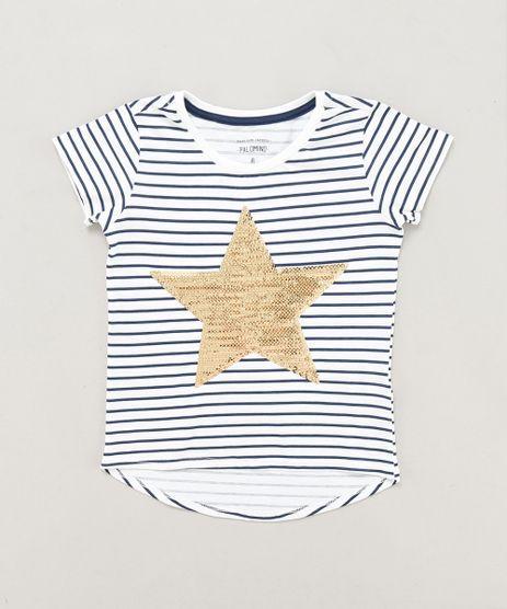 Blusa-Infantil-Listrada-Estrela-com-Paete-Manga-Curta-Decote-Redondo-Branca-9441306-Branco_1