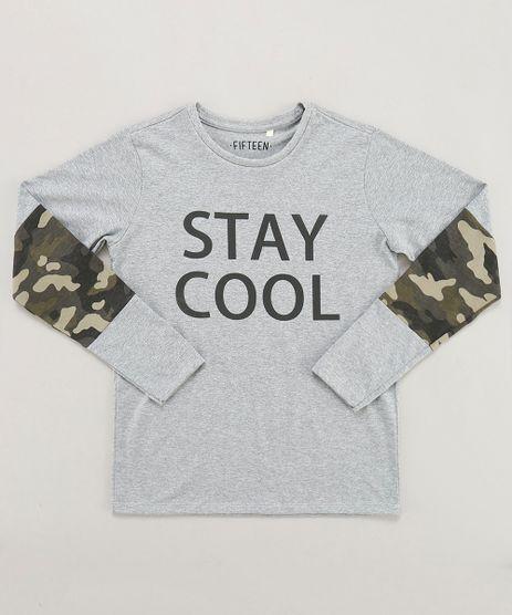 Camiseta-Infantil--Stay-Cool--com-Recorte-Manga-Longa-Gola-Careca-Cinza-Mescla-9442121-Cinza_Mescla_1