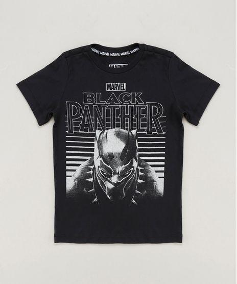 Camiseta-Infantil-Pantera-Negra-Manga-Curta-Gola-Careca-Preta-9465487-Preto_1