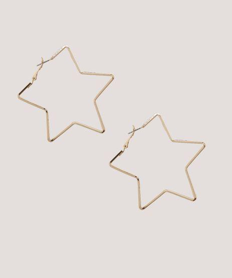 Brinco-Feminino-de-Argola-Estrela-Dourado-9413295-Dourado_1