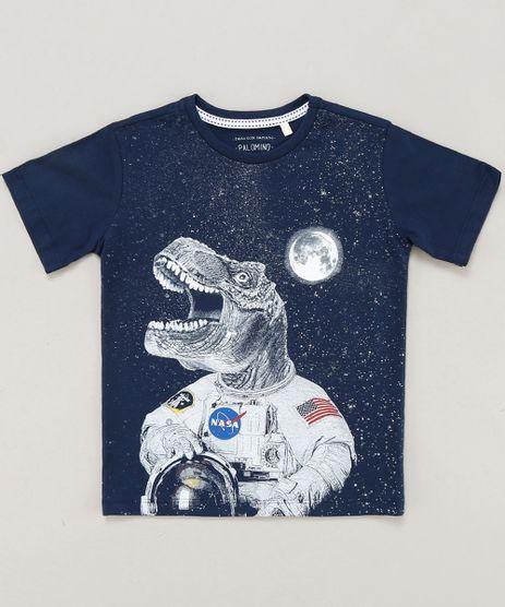 Camiseta-Infantil-Dinossauro-Astronauta-Manga-Curta-Gola-Careca-Azul-Marinho-9442026-Azul_Marinho_1