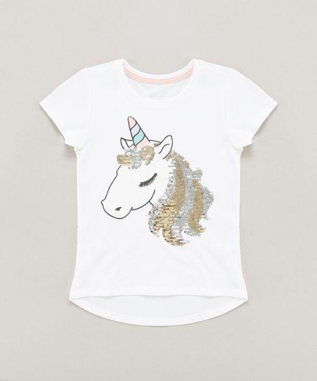 Blusa-Infantil-Unicornio-com-Paete-Dupla-Face-Manga-Curta-Decote-Redondo-Branca-9441307-Branco_1