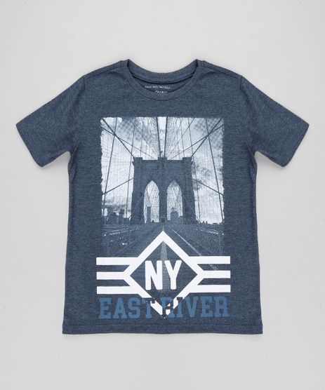 Camiseta-Infantil--NY--Manga-Curta-Gola-Careca-Azul-8614855-Azul_1