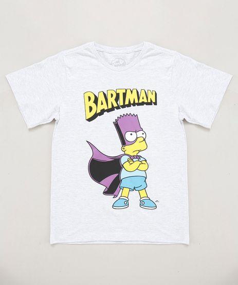 Camiseta-Infantil-Bart-Simpson-Manga-Curta-Gola-Careca-Cinza-Mescla-Claro-9430498-Cinza_Mescla_Claro_1