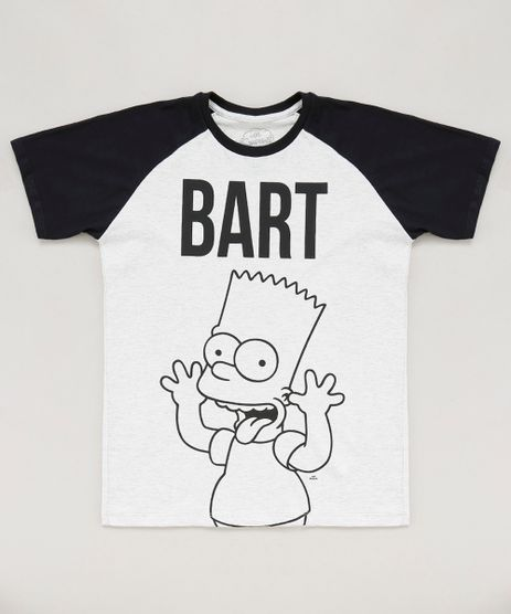 Camiseta-Infantil-Bart-Simpson-Raglan-Manga-Curta-Gola-Careca-Cinza-Mescla-Claro-9442257-Cinza_Mescla_Claro_1