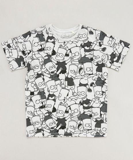 Camiseta-Infantil-Bart-Simpson-Estampada-Manga-Curta-Gola-Careca-Cinza-Mescla-Claro-9442268-Cinza_Mescla_Claro_1