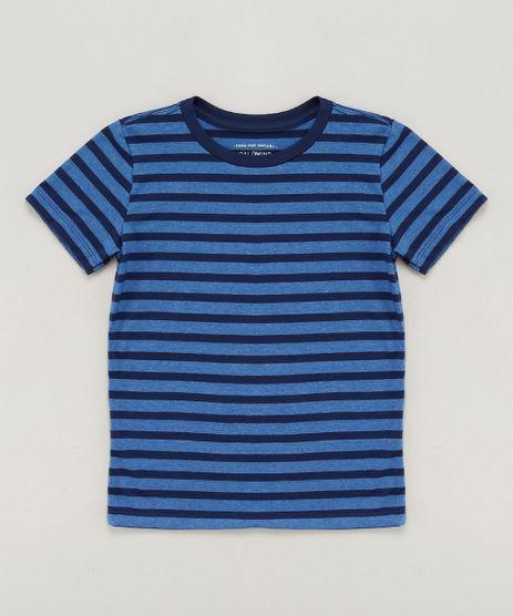 Camiseta-Infantil-Basica-Listrada-Manga-Curta-Gola-Careca-Azul-9442798-Azul_1