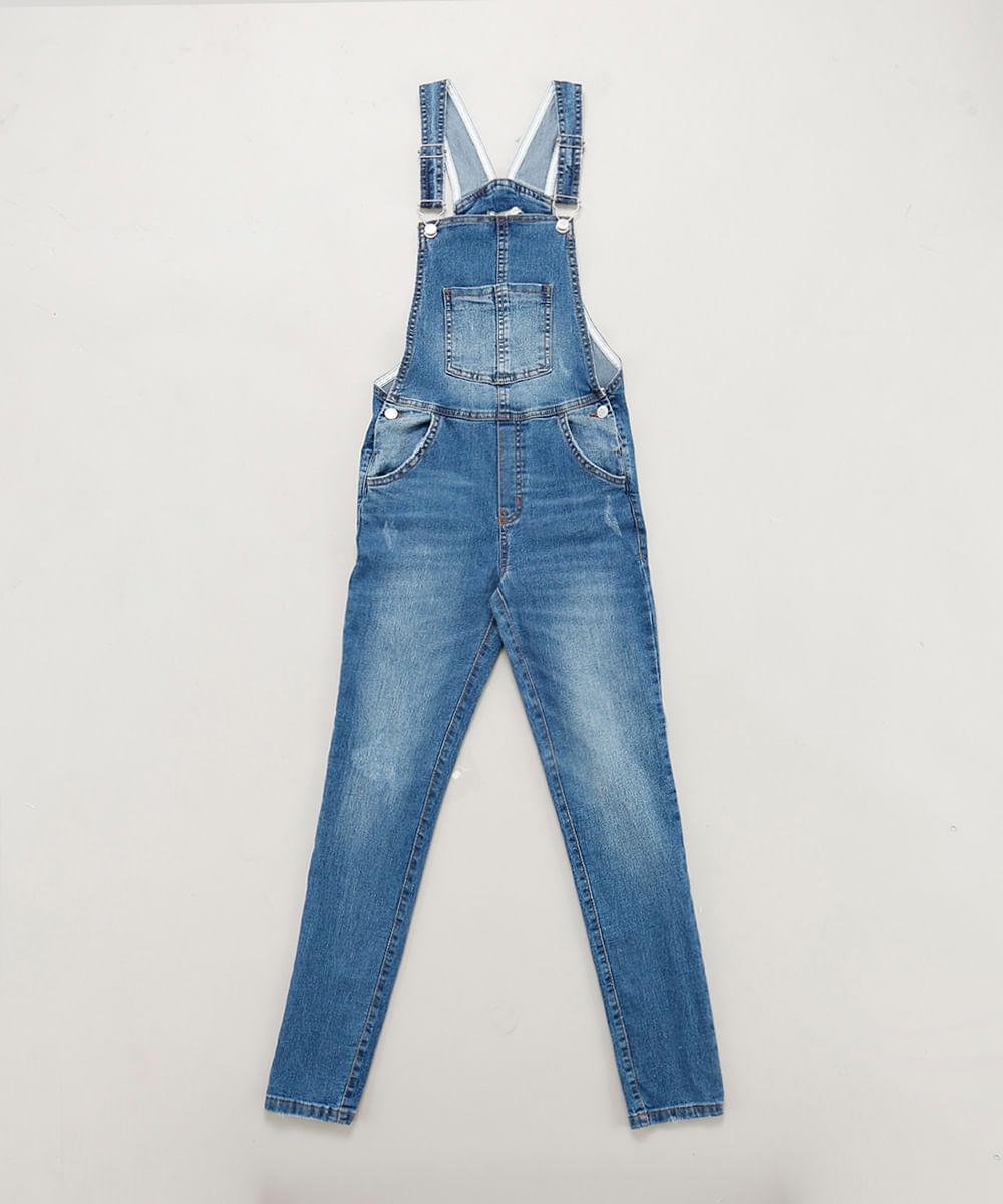 157513a93 ... Macacao-Jeans-Infantil-Azul-Medio-9413242-Azul Medio 1