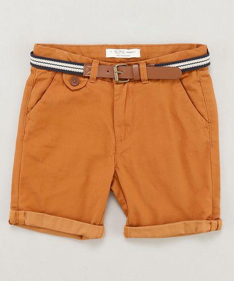 Bermuda-Color-Infantil-com-Cinto-Cadarco-Listrado-Caramelo-9193832-Caramelo_1