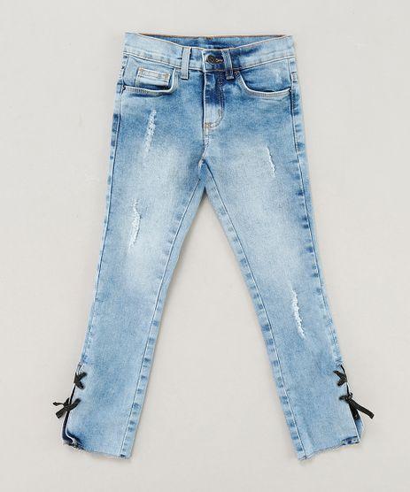 Calca-Jeans-Infantil-com-Puidos-e-Lace-Up-Azul-Claro-9413240-Azul_Claro_1