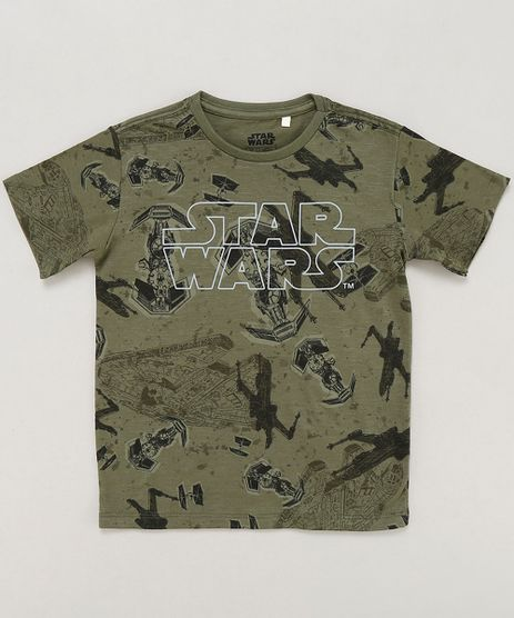 Camiseta-Infantil-Star-Wars-Estampada-Manga-Curta-Gola-Careca-Verde-Militar-9430496-Verde_Militar_1