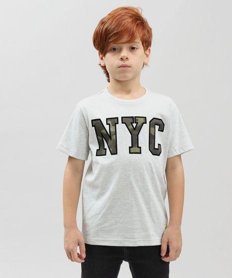 Camiseta-Infantil--NYC--Manga-Curta-Gola-Careca-Cinza-Mescla-Claro-9416331-Cinza_Mescla_Claro_1