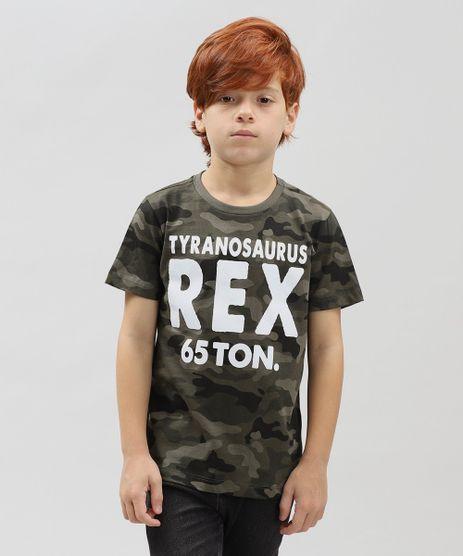 Camiseta-Infantil-Estampada-Camuflada--Rex--Manga-Curta-Gola-Careca-Verde-Militar-9430534-Verde_Militar_1