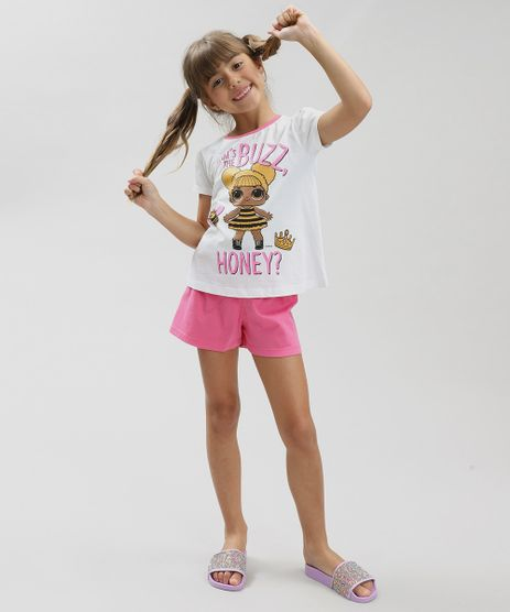 Pijama-Infantil-LOL-Surprise-Manga-Curta-Off-White-9340403-Off_White_1