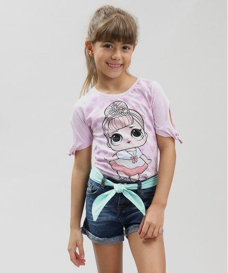 Blusa-Infantil-LOL-Surprise-com-Glitter-Manga-Curta-Decote-Redondo-Lilas-9297078-Lilas_1